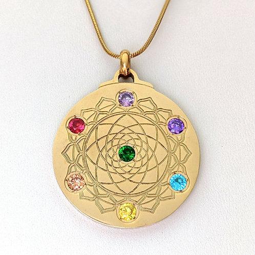 Mandala: 'Chakra' 18K Gold over Titanium