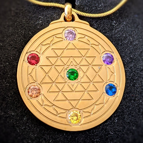Sri Yantra 'Chakra' in Silver, Gold, or Rose Gold