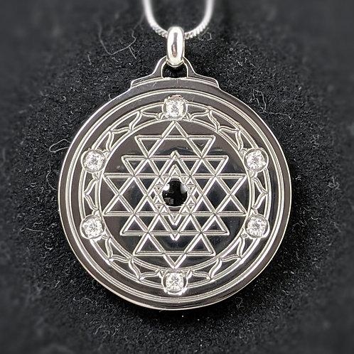 Sri Yantra: 'Star Points' in Titanium