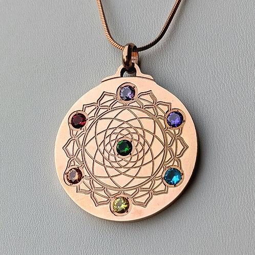 Mandala: 'Chakra' 18K Rose Gold over Titanium