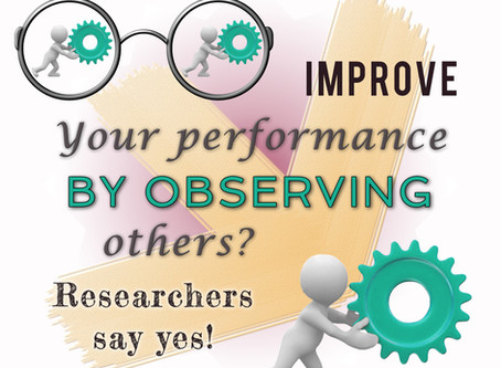 Can you improve your performance by observing others? Researchers say yes!