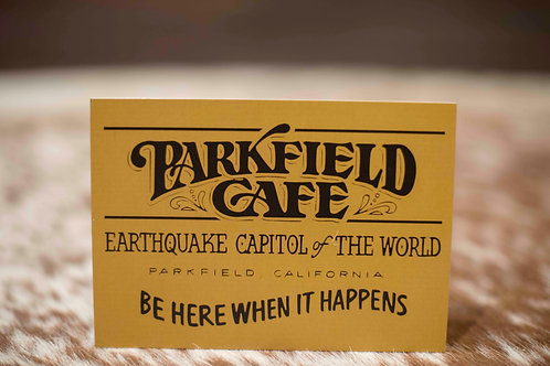 Parkfield Cafe Post Card