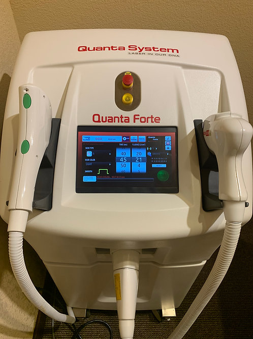 2017 Quanta Systems Forte IPL and Diode system~ Diode hair removal ~ Vascular