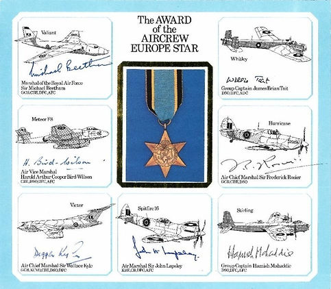 The Award of the Aircrew Europe Star