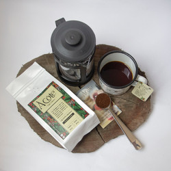 Freshly brewed Columbian coffee with caf