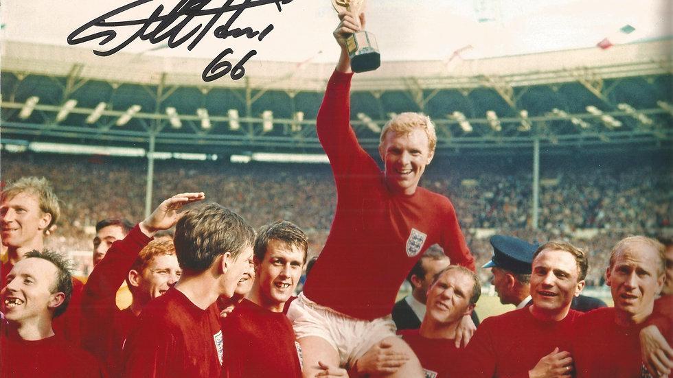 Geoff Hurst signed 10x8 colour image