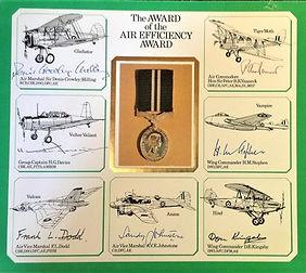 Signed WW2 Air Efficiency Award