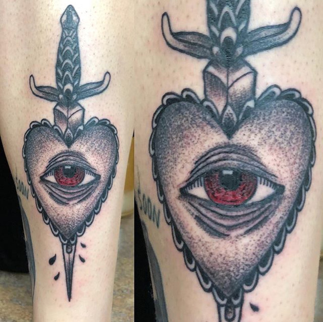 Self-inflicted shin love by the slasher