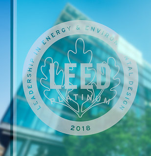 LEED Sticker, white with translucent effect