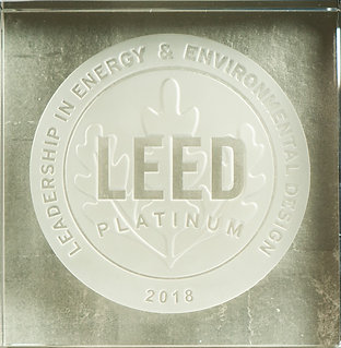 GOLD-Backed LEED Glass BLOCK 20 x 20 x 8 cm