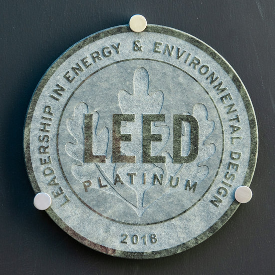LEED GREEN Granite Plaque ⌀ 40cm, inc. hardware