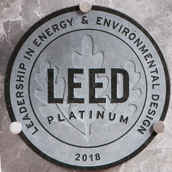 LEED BLACK Granite Plaque ⌀ 40cm, including hardware