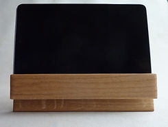 oak bookstand with tablet.JPG