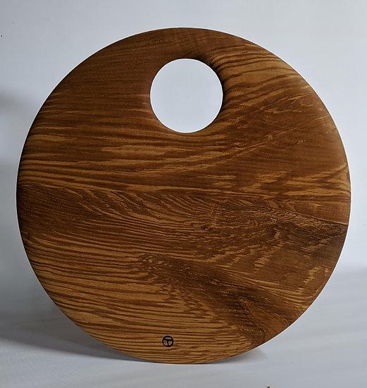 small round board in ash 1