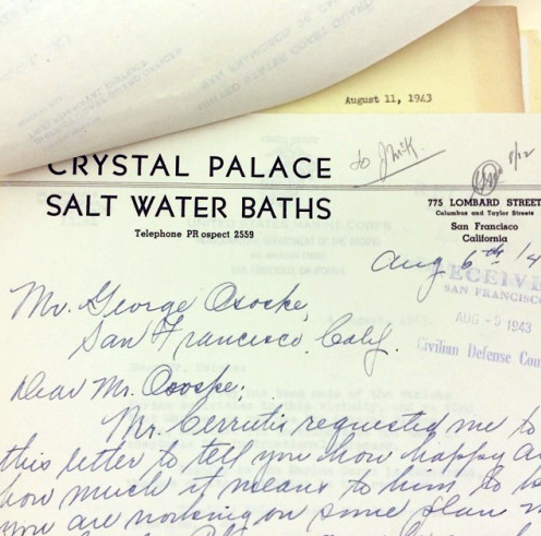 Crystal Palace Letterhead in the collection of SF Public Library History Room