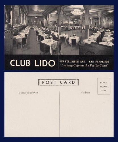 Club Lido postcard