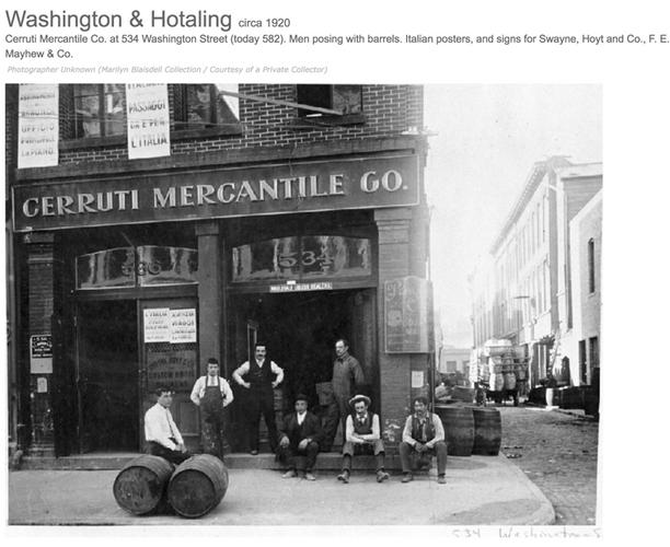 Cerruti Mercantile at 543 Washington st. San Francisco