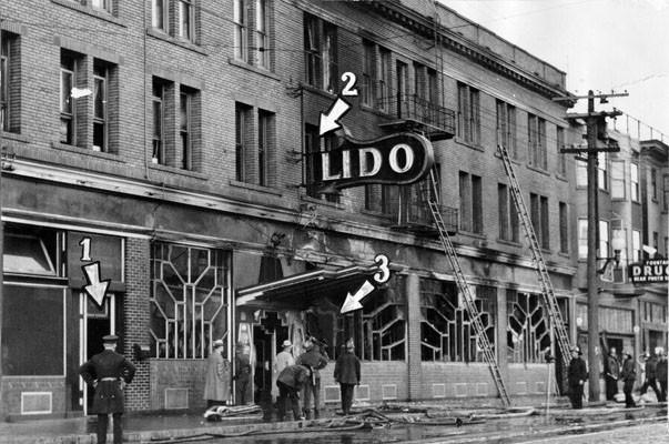 Lido after fire 1933