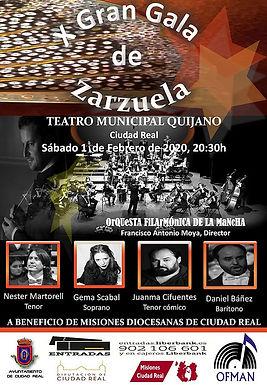 """""""X GALA DE LA ZARZUELA"""" A CARGO DE LA OFMAN EN EL TEATRO QUIJANO DE CIUDAD REAL"""