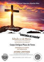 """CONCIERTO """"SINFONÍA DE PASIÓN"""" DE LA AGRUPACIÓN MUSICAL MAESTRO MARTÍN DÍAZ DE ARGAMASILLA DE ALBA (CIUDAD REAL)"""