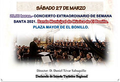CONCIERTO DE SEMANA SANTA DE LA BANDA MUNICIPAL DE MÚSICA DE EL BONILLO (AB)