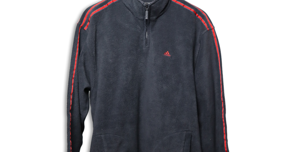 ADIDAS FLEECE QUARTER ZIP | L