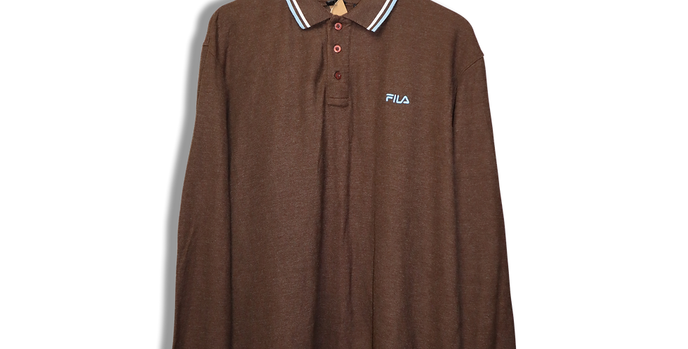 FILA BUTTONDOWN LONGSLEEVE POLO | XL