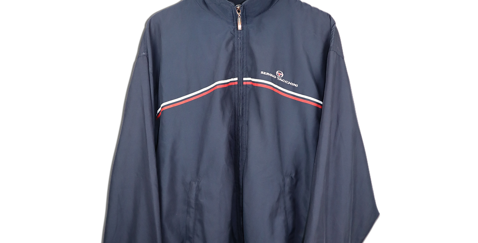 EARLY 1990s SERGIO TACCHINI TENNIS TRACKSUIT TOP | L