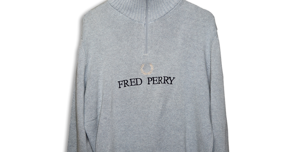 FRED PERRY KNITTED QUARTER ZIP | M