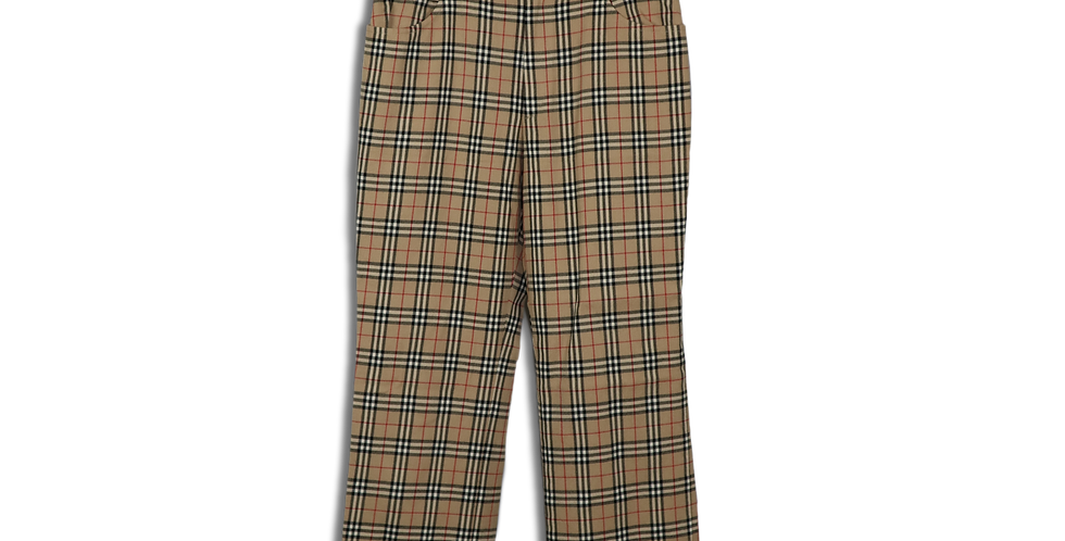EARLY 2000s BURBERRY NOVA CHECK TROUSERS | W25