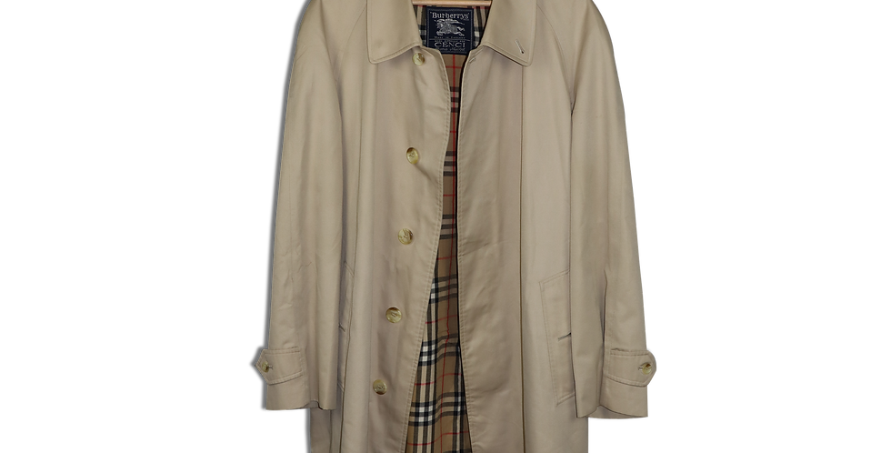 LATE 1980s BURBERRY TRENCH COAT | L