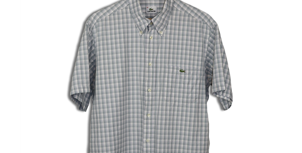 LATE 1990s LACOSTE BUTTON DOWN SHORT SLEEVE SHIRT | L