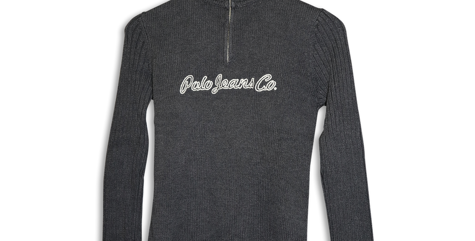 POLO JEANS CO. KNITTED QUARTER ZIP | S