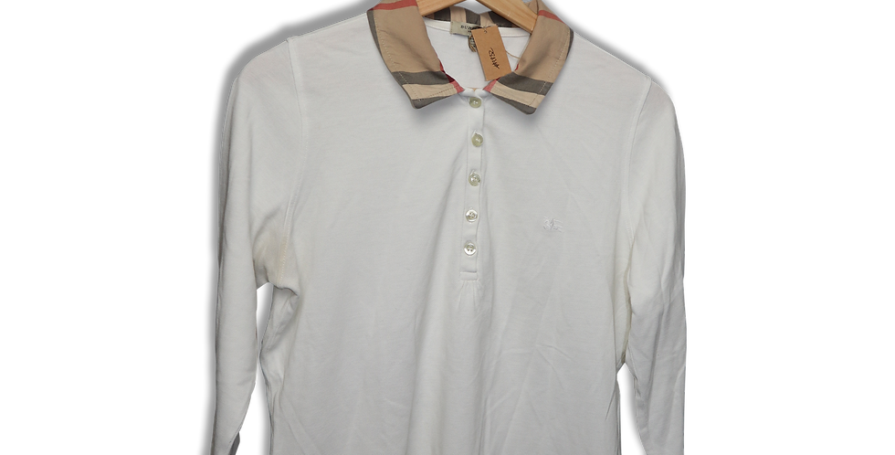 BURBERRY BUTTON DOWN COLLARED TOP | M