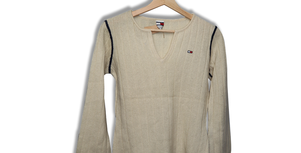 TOMMY HILFIGER KNITTED COTTON TOP | S