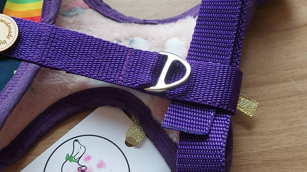 Purple 💜 unicorn & rainbow Harness