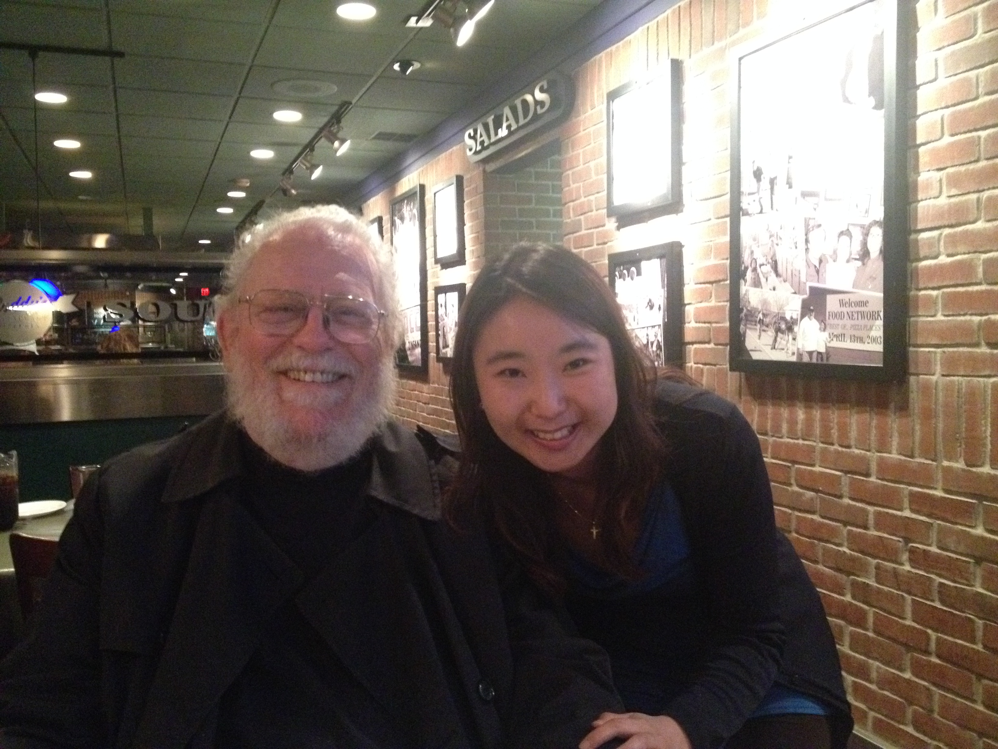With Peter Schickele, better known as P.D.Q Bach!