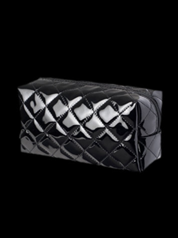 Patent Quilted BK Beauty Bag
