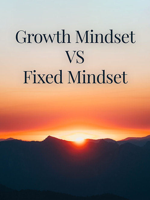 Growth Mindset vs Fixed Mindset Journal
