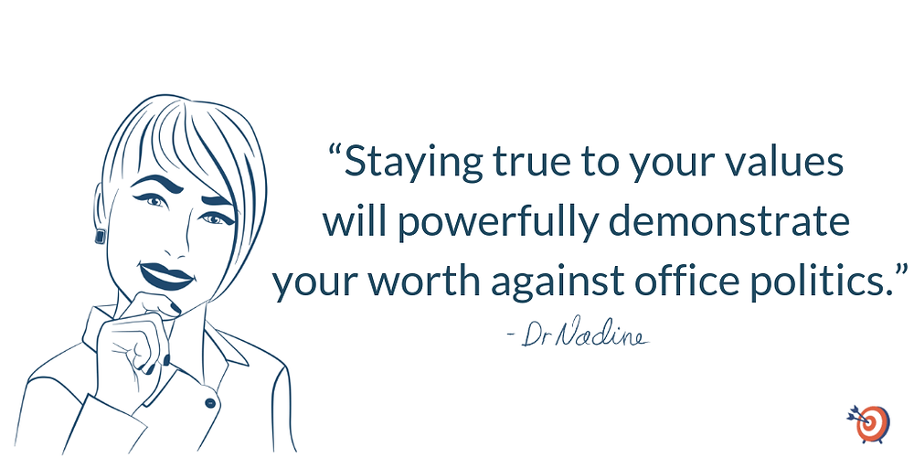3 Powerful Strategies that Conquer Office Politics, quote by Dr Nadine Greiner PhD