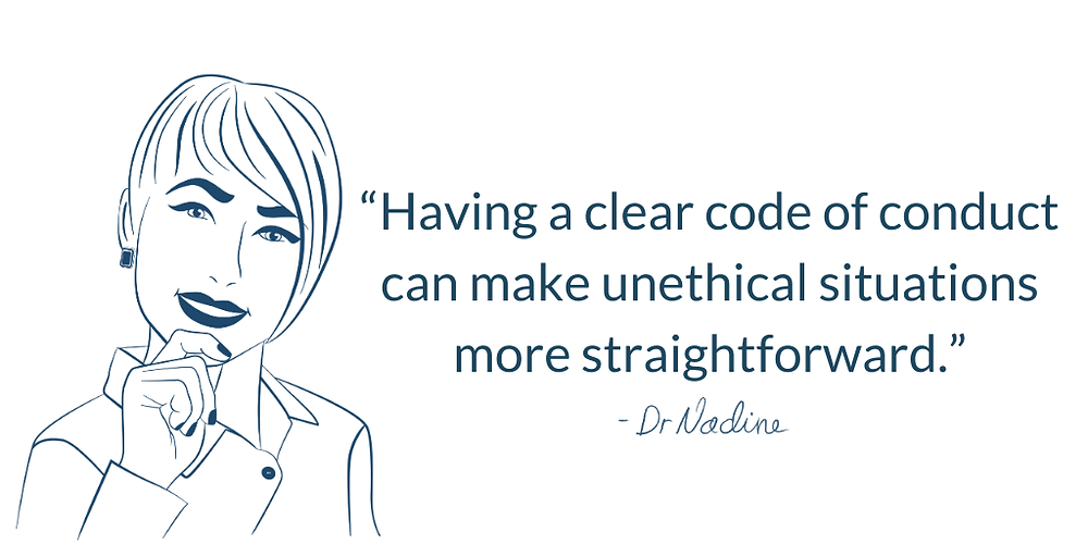 The Best Ways To Confront Unethical Situations In The Workplace, quote by Dr Nadine Greiner PhD
