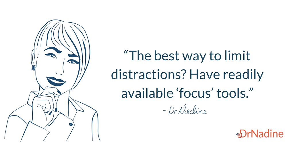 Common Workplace Distractions And How To Avoid Them, quote by Dr Nadine Greiner PhD