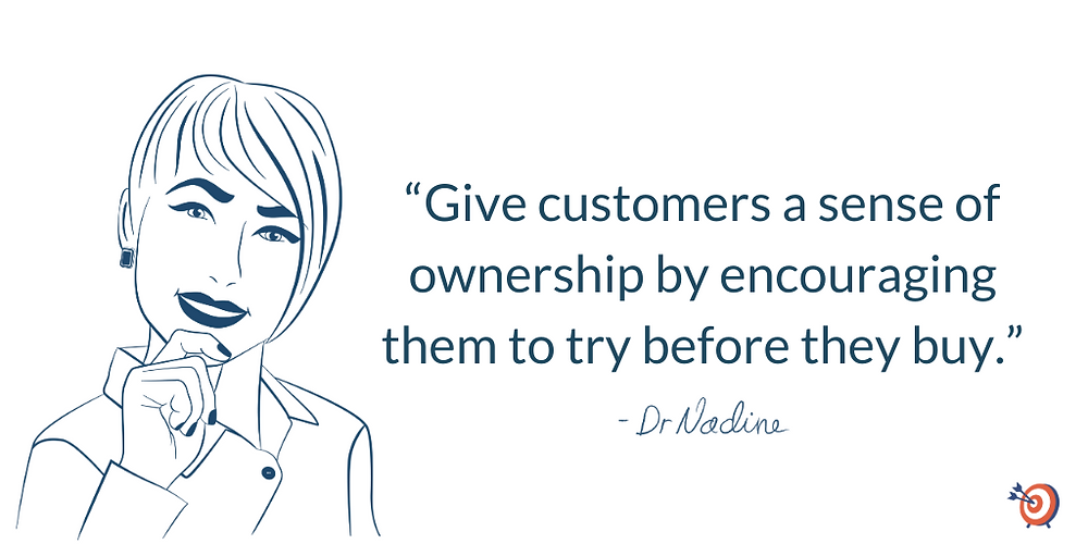 How To Create Product Test Drives That Will Wow Your Customers, quote by Dr Nadine Greiner PhD
