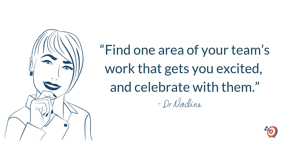 How To Lead Like A Rockstar And Engage Your Team, quote by Dr Nadine Greiner PhD