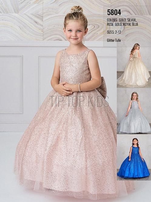 Girls Glitter Ball Gown