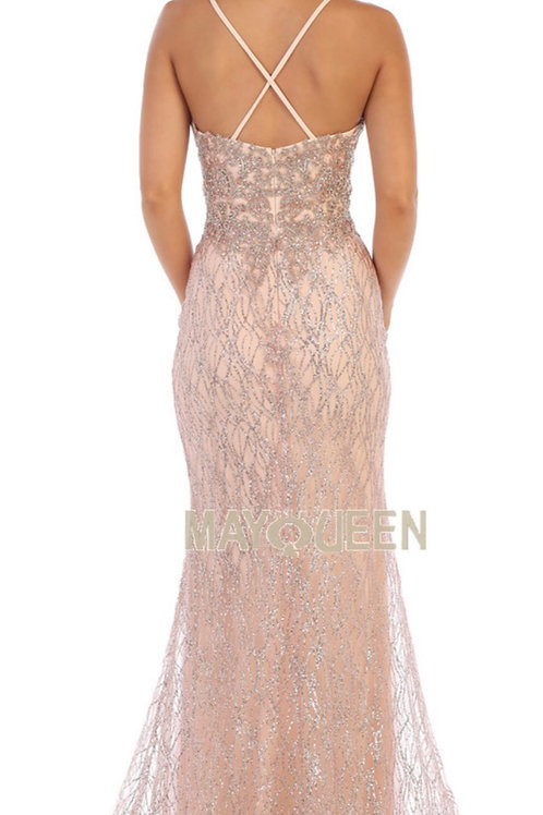 Mayqueen dress RQ7683 2 colors blush and champagne