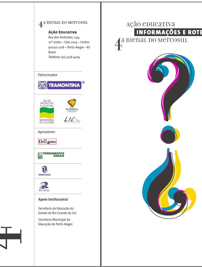 Folder Ação Educativa 4ª Bienal