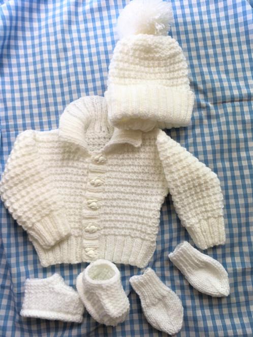 c5e0786d1bb Baby boy white layette jacket