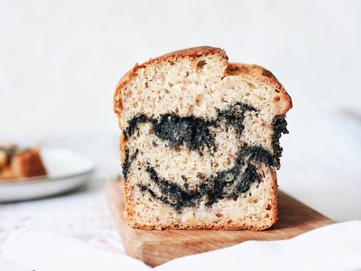 Black Sesame Swirl Banana Bread