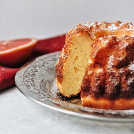 Vanilla Bundt Cake with Grapefruit Glaze